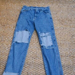 Wrangler high waisted distressed denim